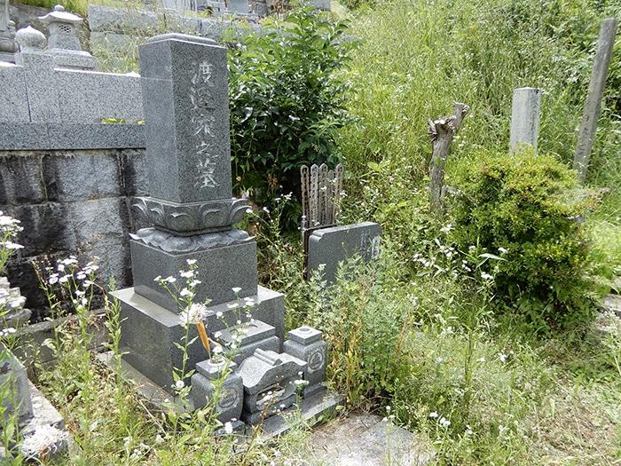夫婦墓 施工前 近影