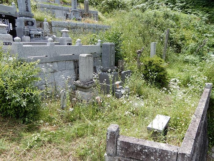夫婦墓 施工前の全体像