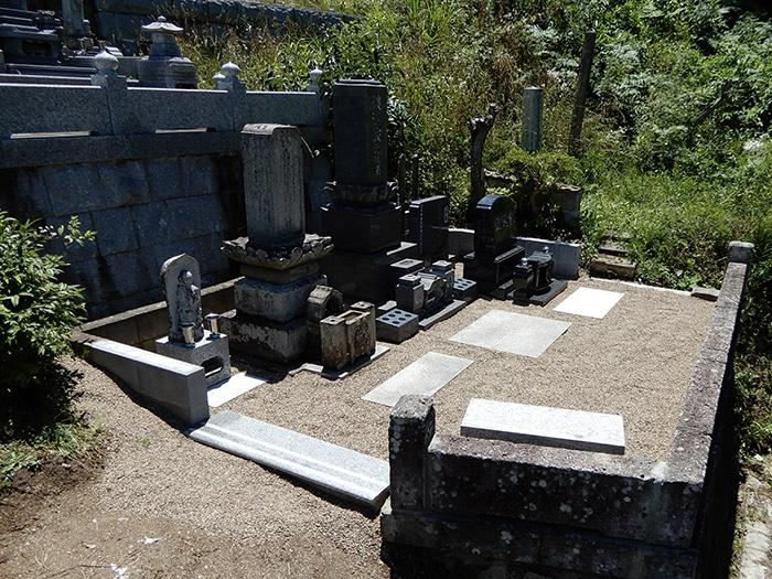夫婦墓 施工後の全体像
